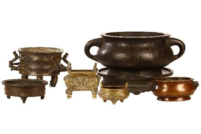 Chinese bronzes censers