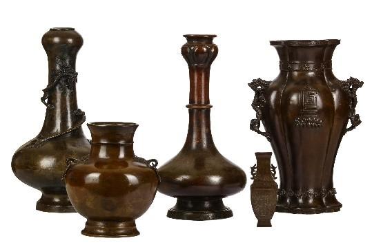 Chinese bronzes flower vases