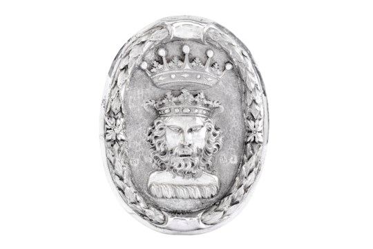 An extremely rare Charles II sterling silver livery or alms badge