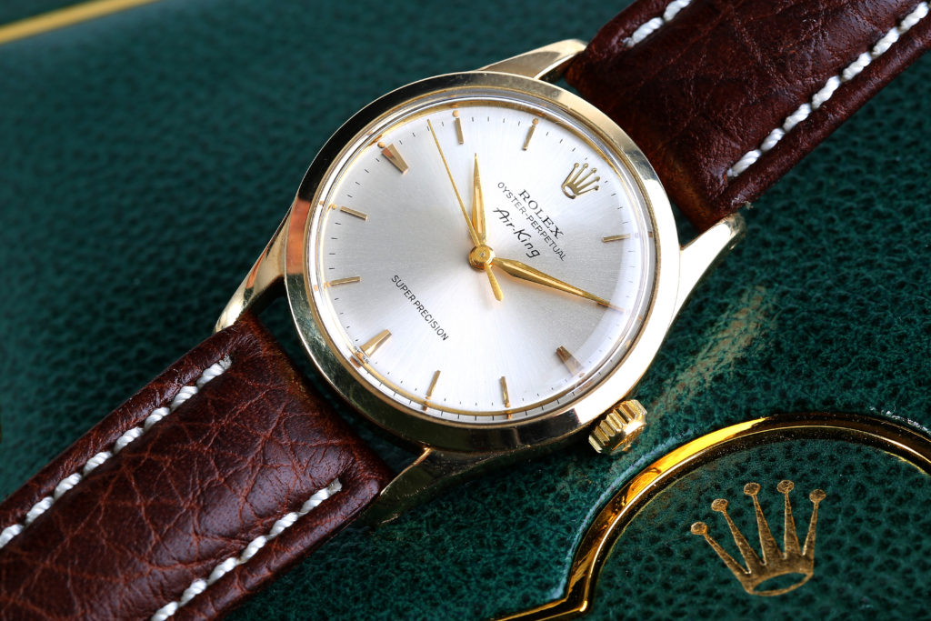 A Gents circa 1960 capped Rolex Oyster-Perpetual Air King Precision Wristwatch offered Chiswick Auctions