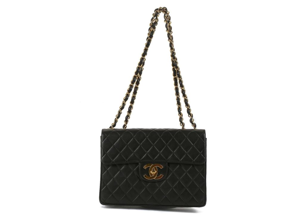 Chanel black Classic Jumbo Flap bag