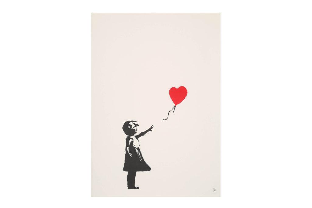 banksy balloon girl screenprint