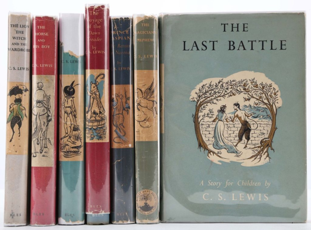 book chronicles of narnia selling books at auction