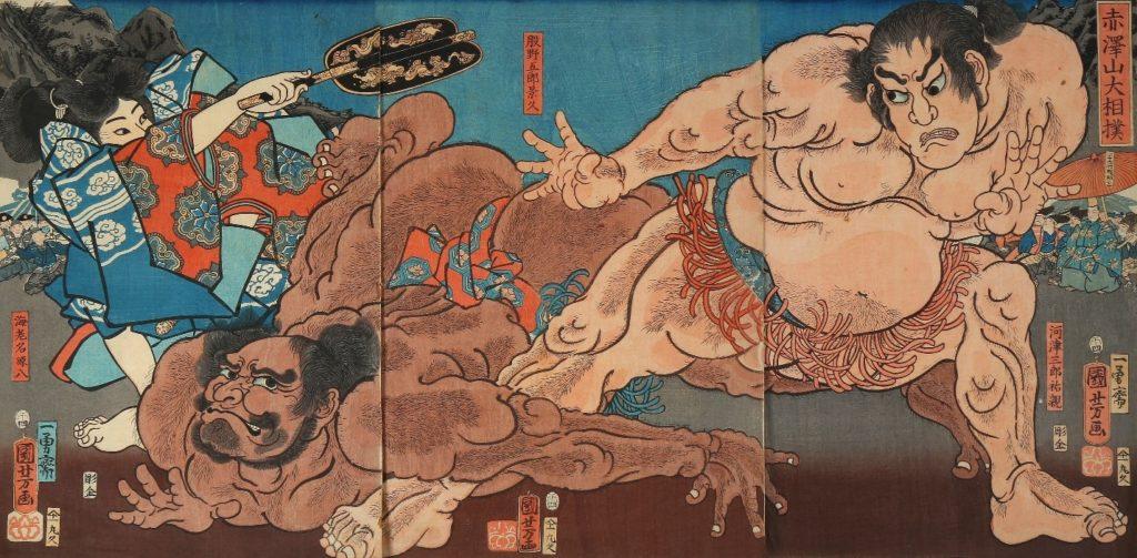Kuniyoshi Japanese sumo prints