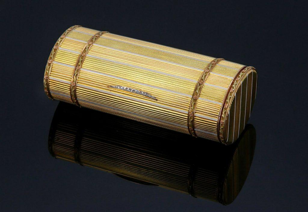 Fabergé Russian bi-colour 72 zolotnik gold cigarette case