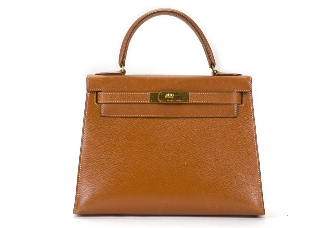 Hermes gold Epsom Kelly Sellier leather handbag