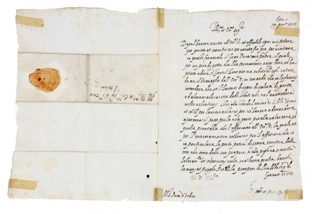 House of Medici signed letters