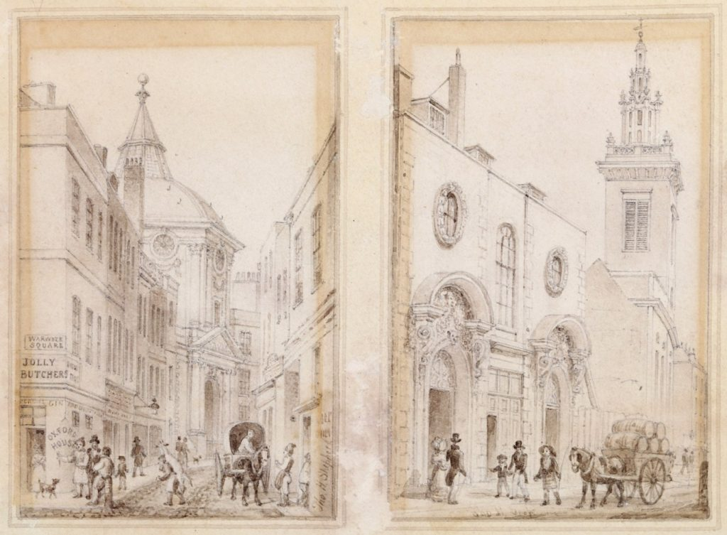 Thomas Hosmer Shepherd (1793-1864) Four original drawings