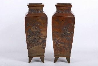 meiji-japanese-bronze-vases