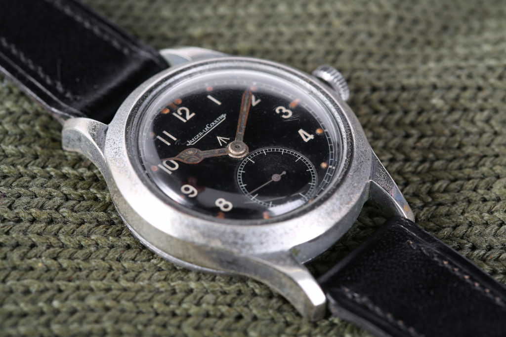 This rare gents WW2 British military issued Jaeger-LeCoultre Wristwatch is offered Chiswick Auctions