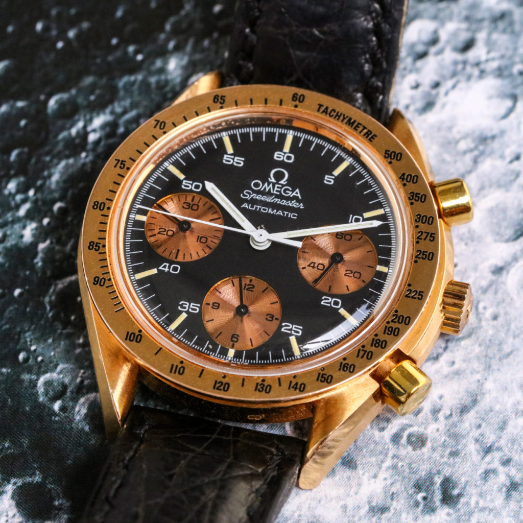 This 18ct Rose Gold Omega Speedmaster Chronograph Chiswick Auctions