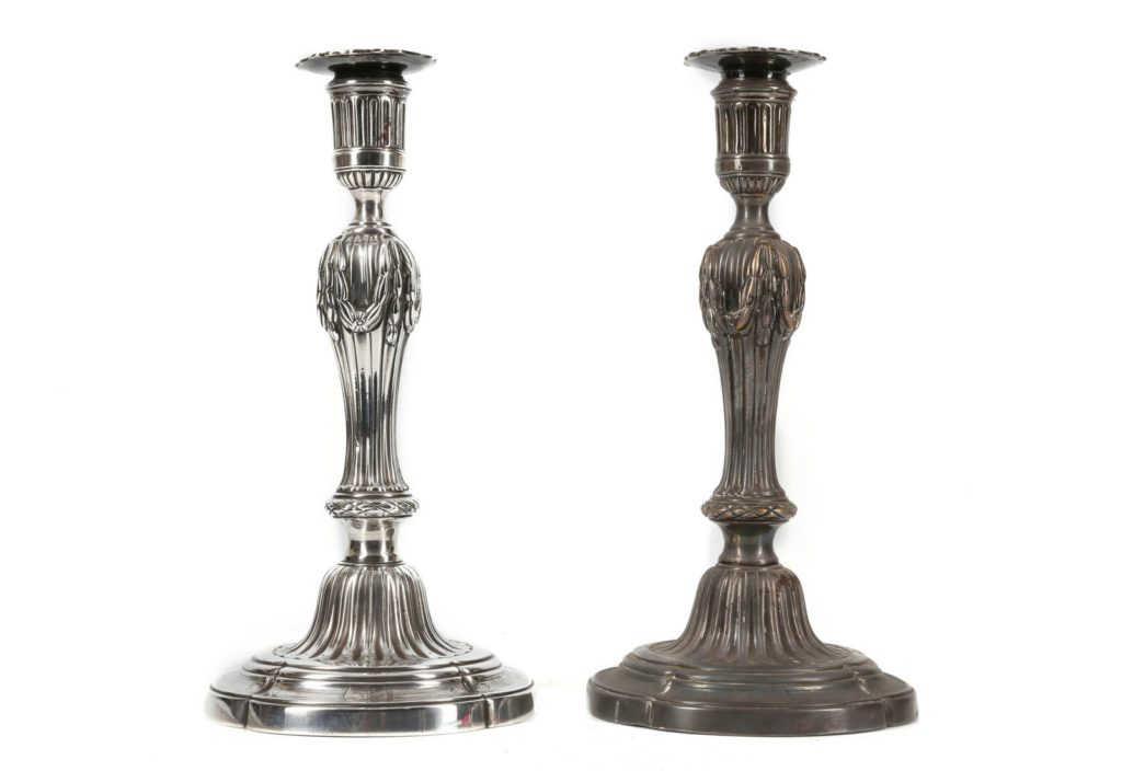 how to clean silver candlesticks