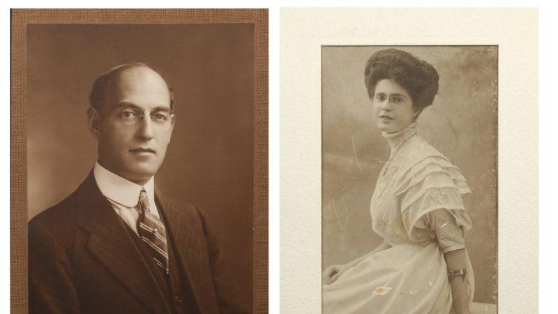Original letters, menus and photographs