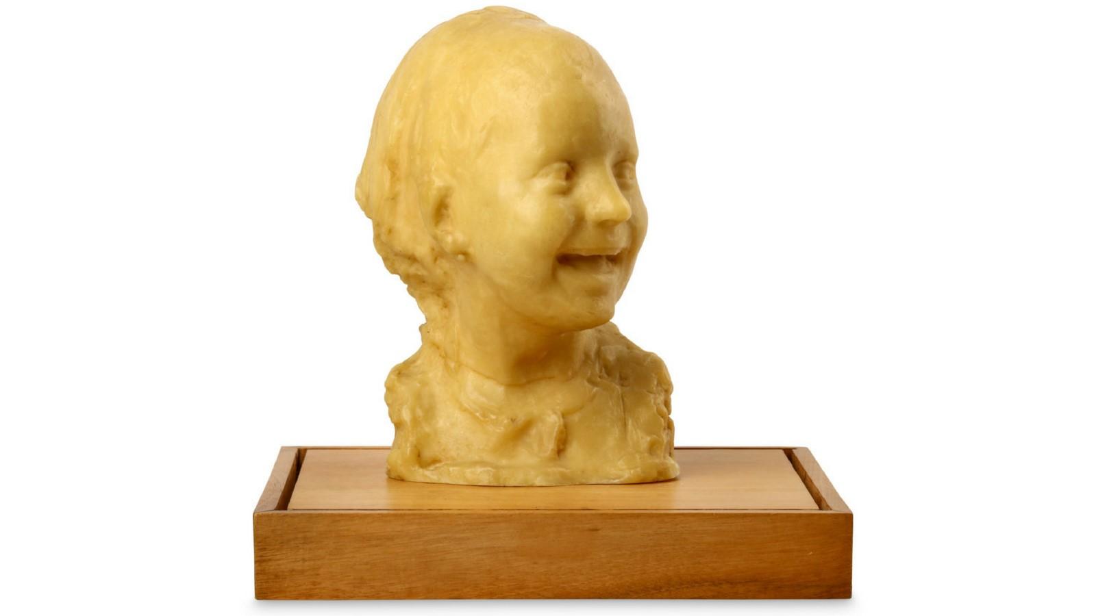 Rare wax head by Post-Impressionist sculptor Medardo Rosso
