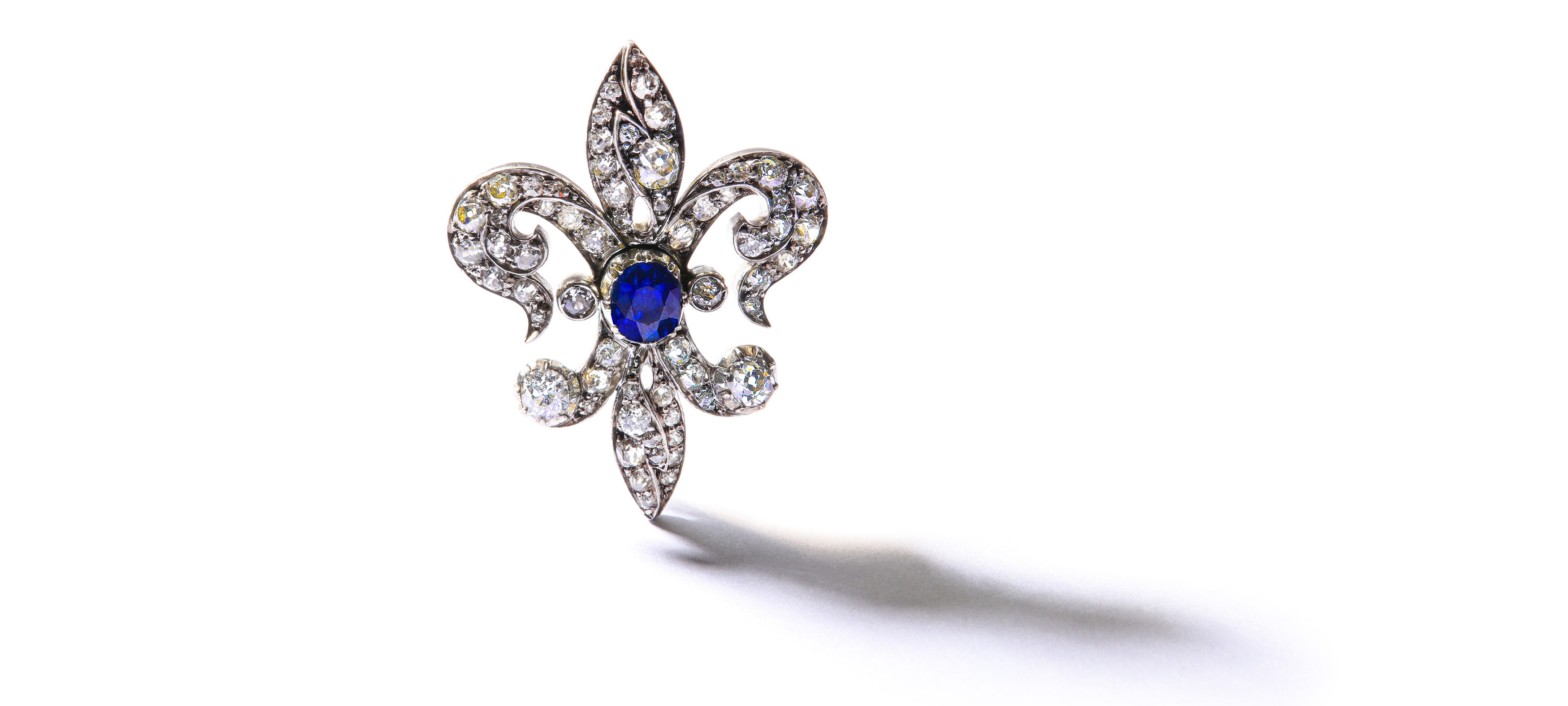 Sapphire and Diamond Brooch
