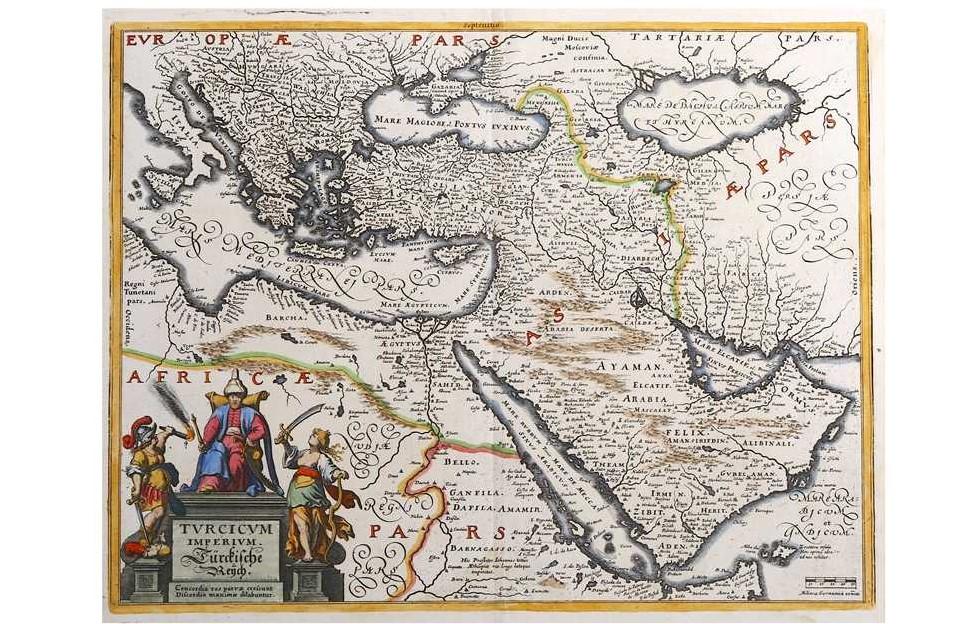 Merian (m), Turcicum Imperium/ Türkische Reich, engraved map