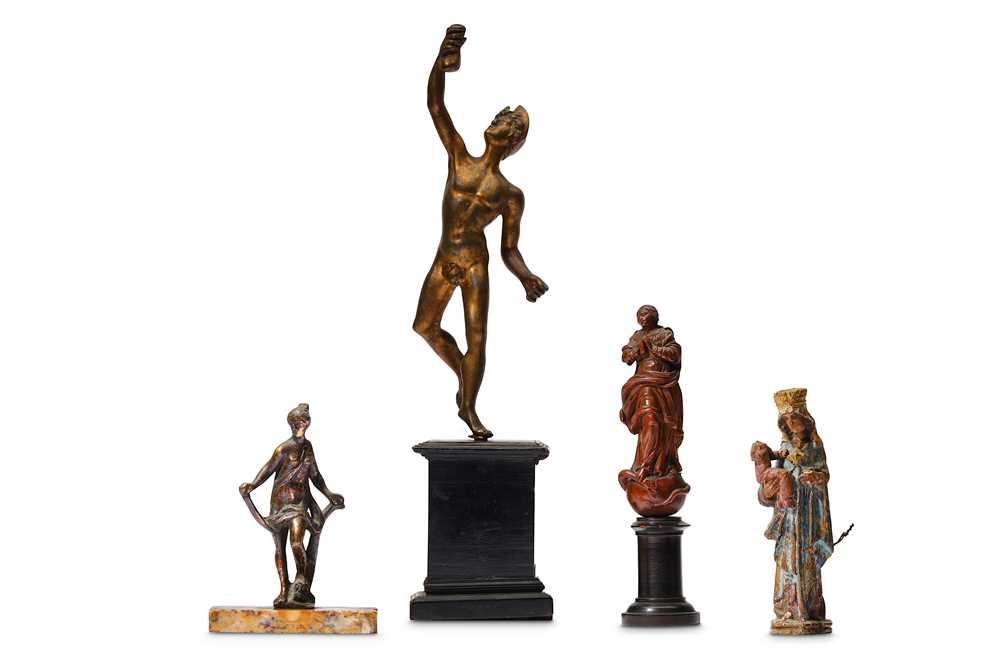 A 17th century gilt bronze figure of Venus