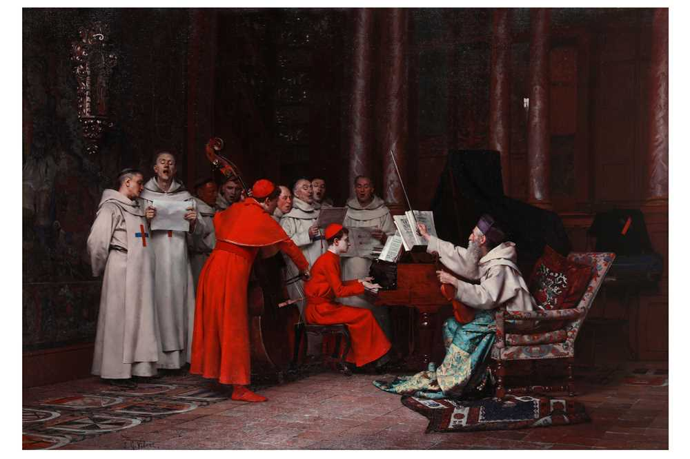 Lot 361. Jehan Georges Vibert (French 1840-1902) The rehearsal.