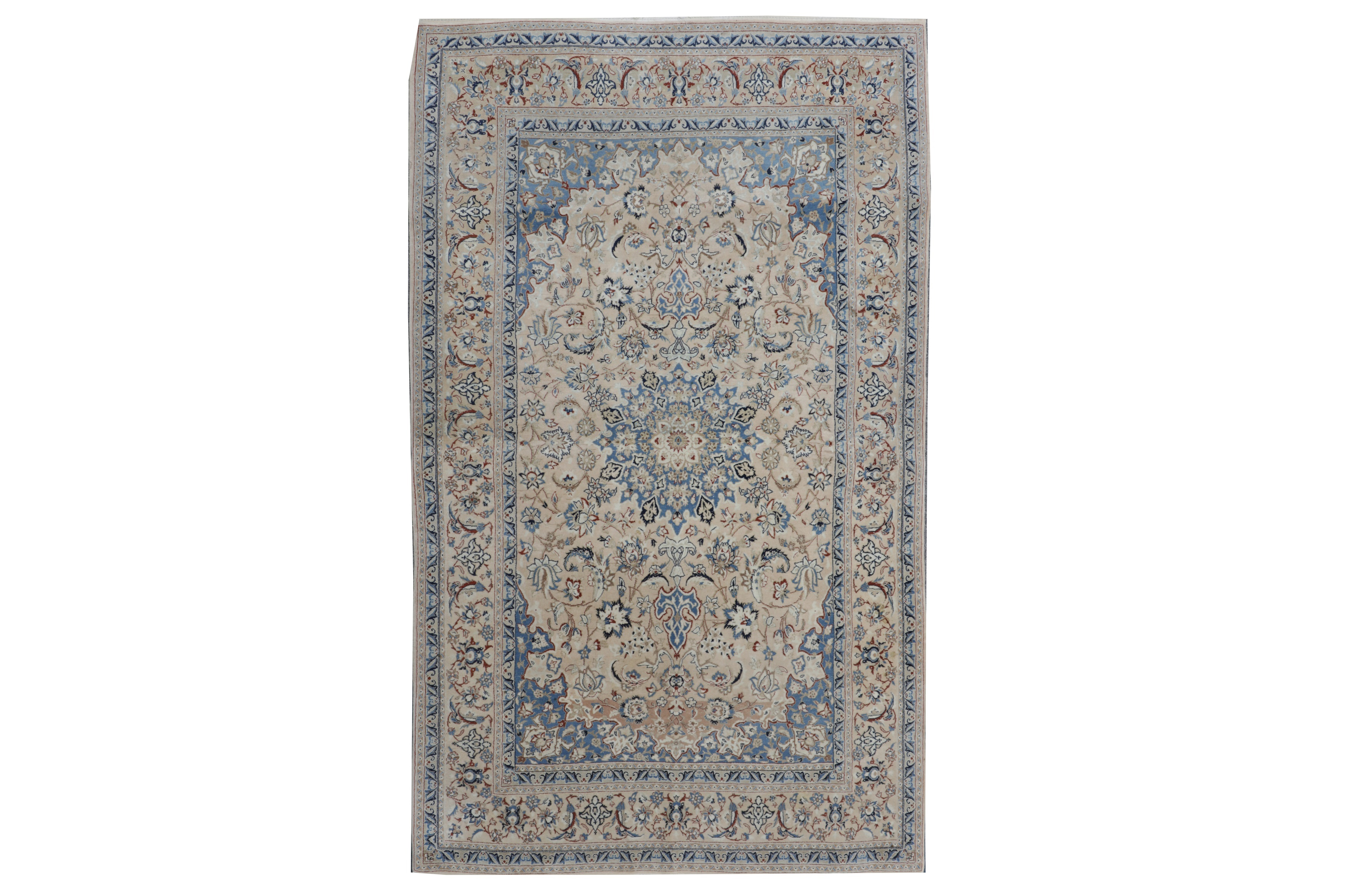 Lot 7. A EXTREMELY FINE PART SILK NAIN RUG, CENTRAL PERSIA