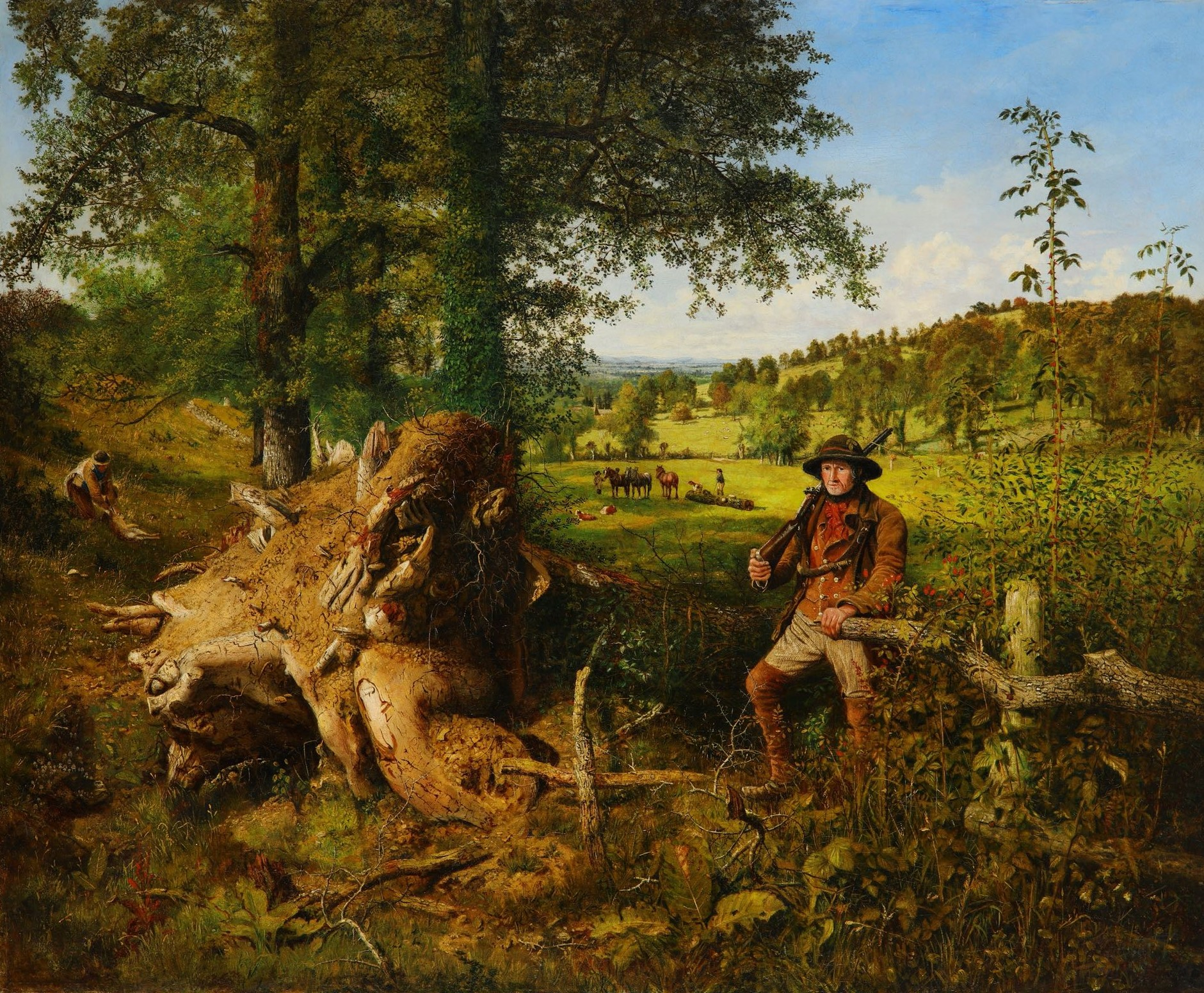George William Mote, Logging in a country vail