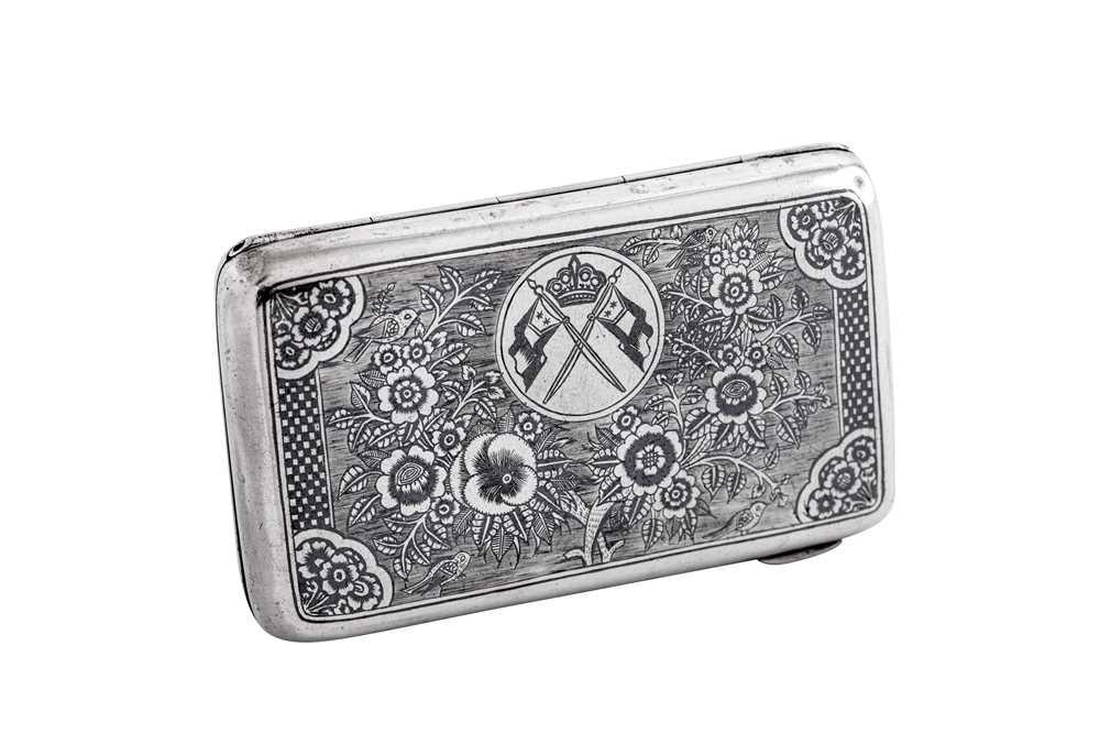 An early 20th century Iraqi silver and niello cigarette case
