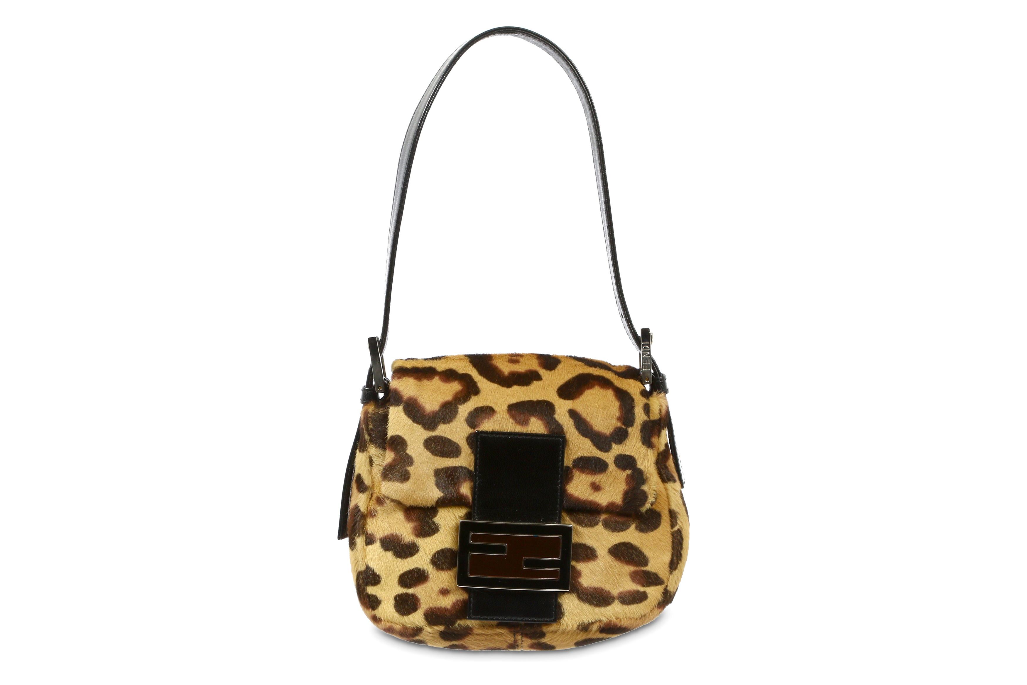 Fendi Leopard Print Mini Baguette