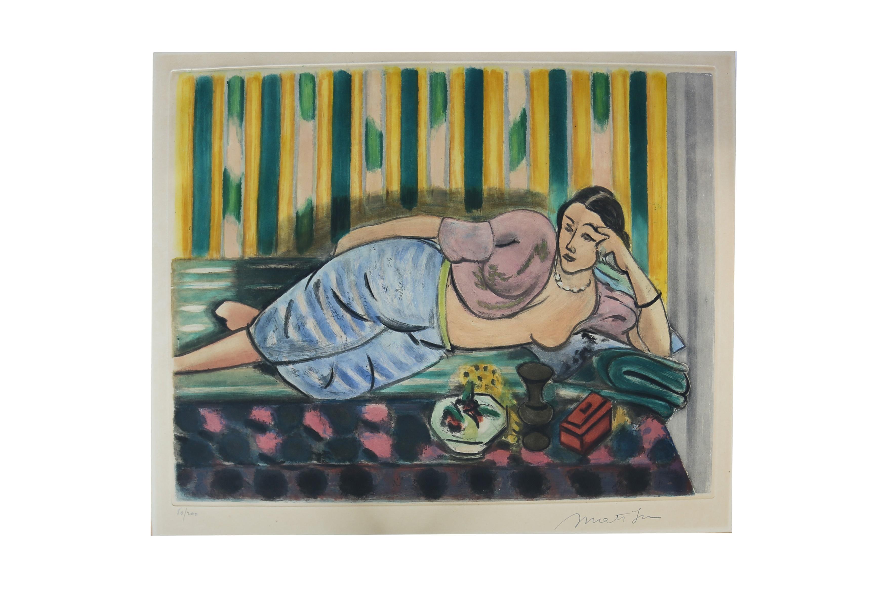 Matisse (Henri).Odalisque au coffret rouge, signed,1926.