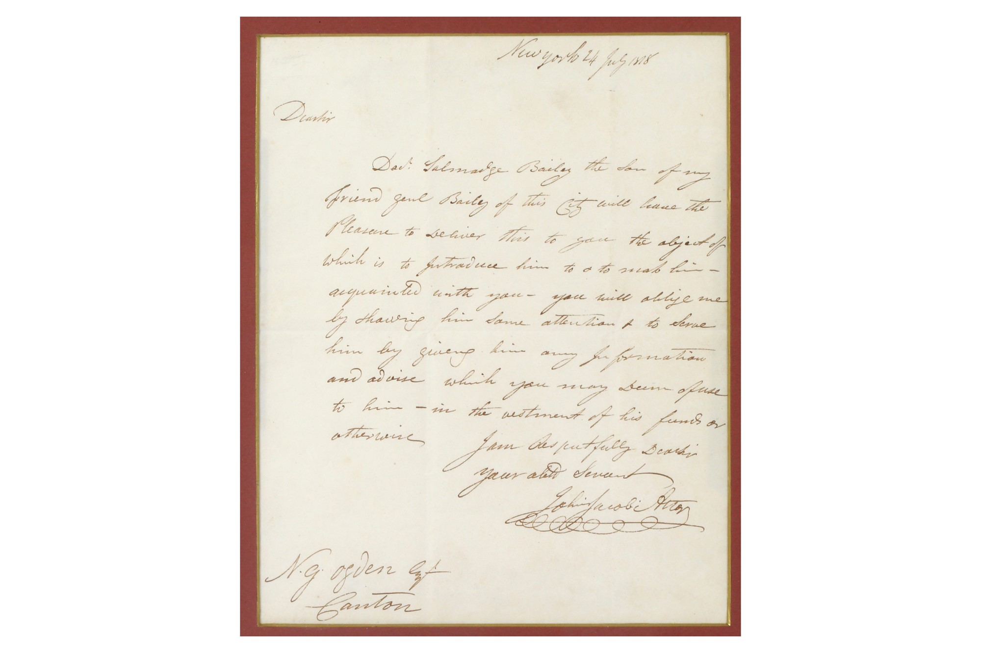 John Jacob Astor Letters