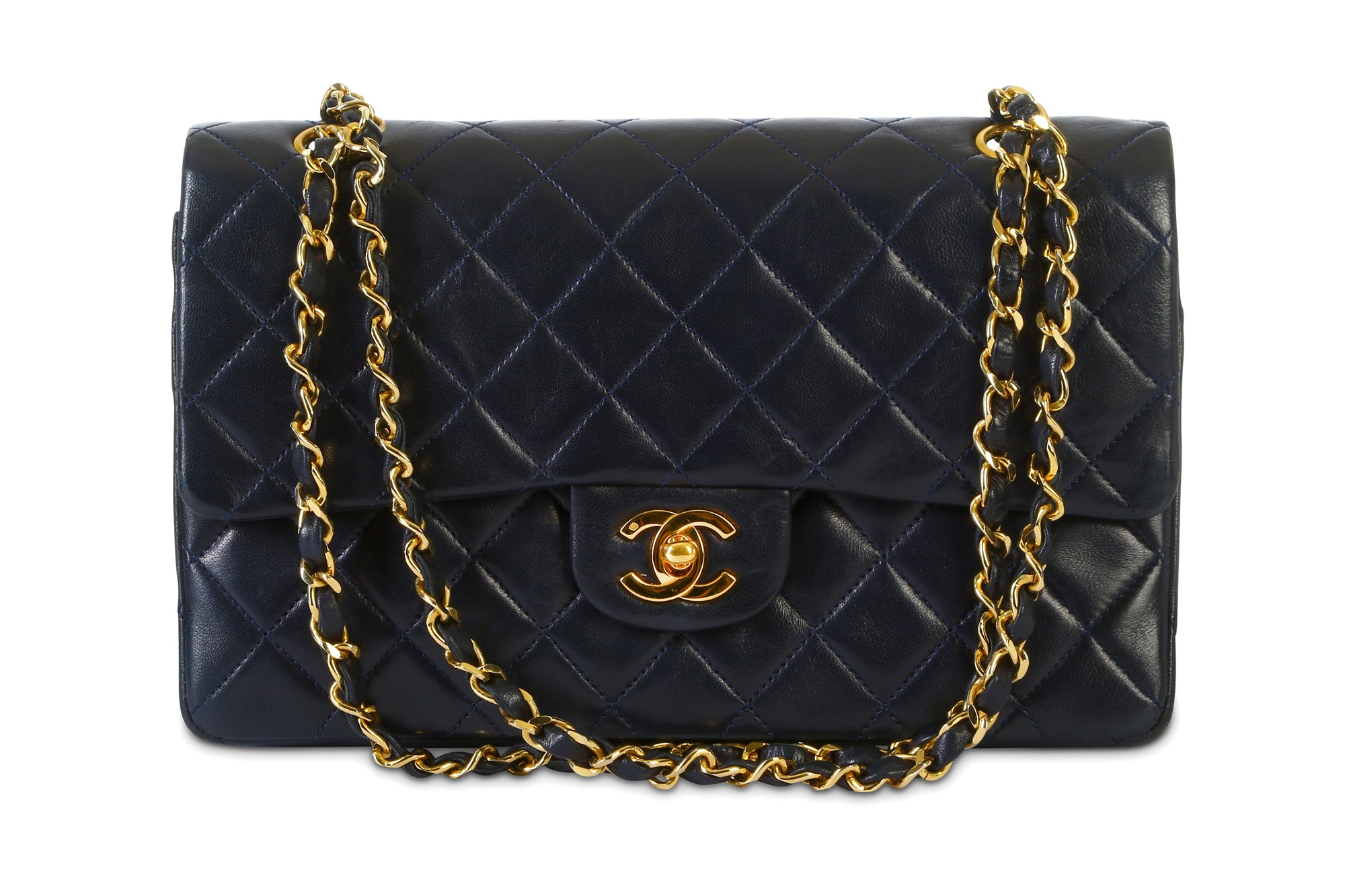 Chanel Navy Classic Double Flap Bag