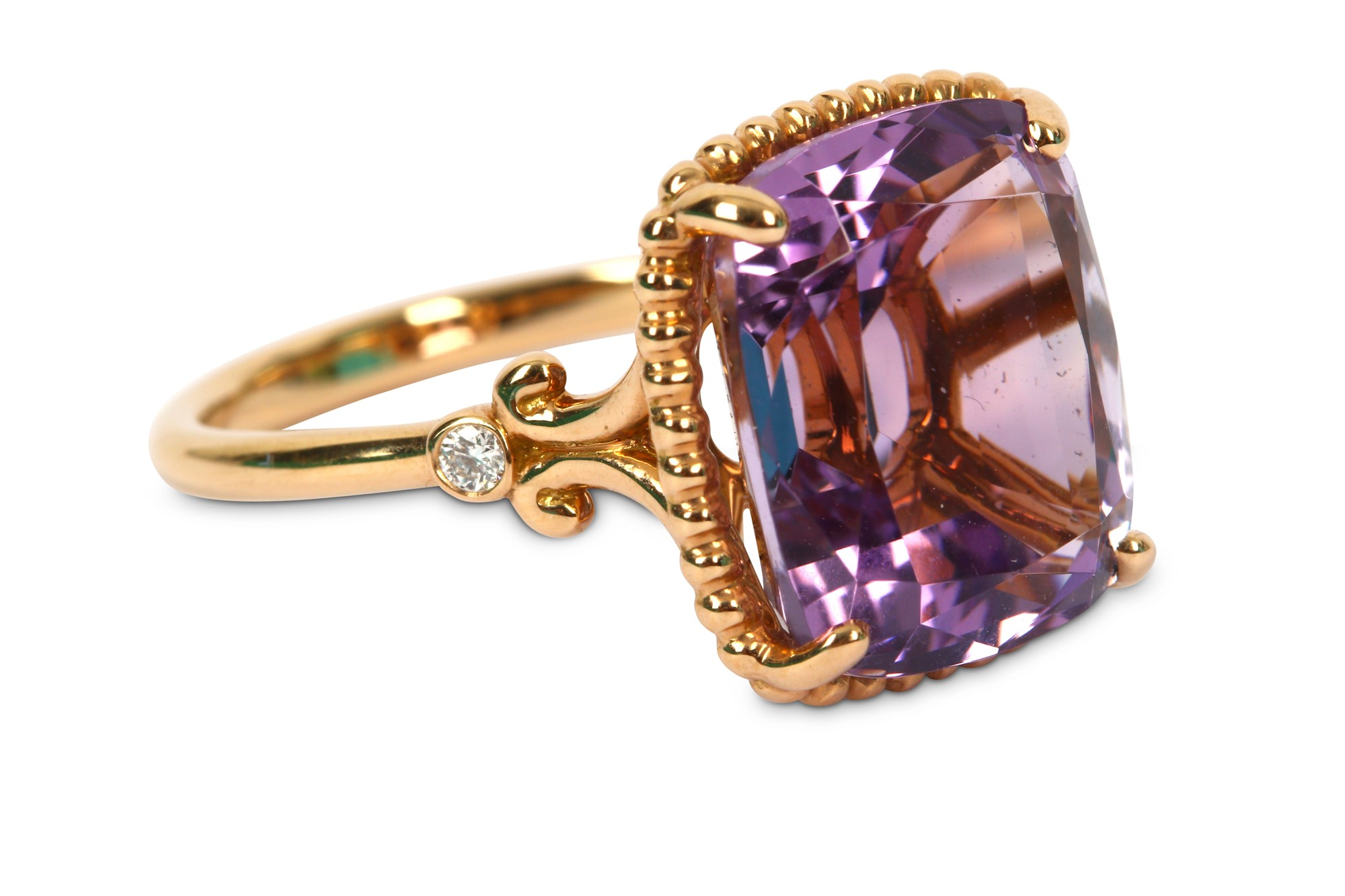 An amethyst and diamond ring, by Tiffany & Co.