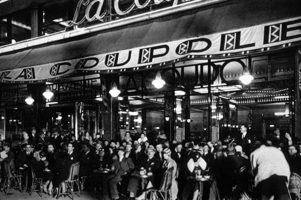 La Coupole, Montparnasse, in the 1930s
