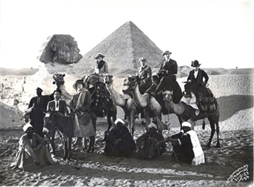 John Nicholas Brown and Augusta McCagg and party in Egypt, 1923