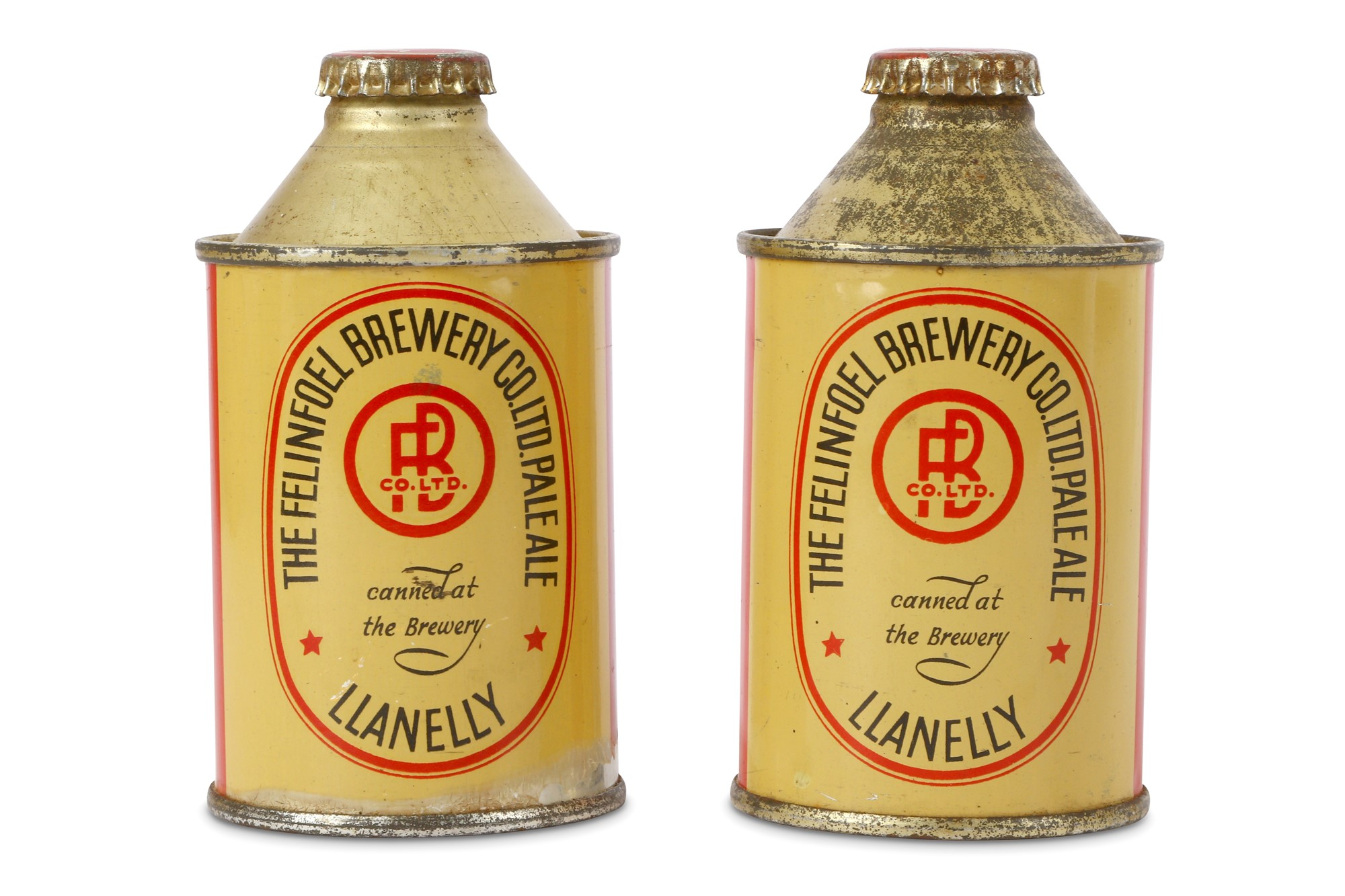 Two Cans of Felinfoel Brewery Pale Ale canned around 1936