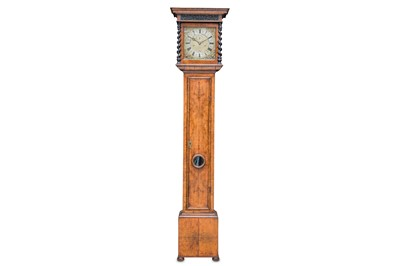 Lot 1 - A RARE LATE 17TH CENTURY CLOCK WITH TEN INCH...