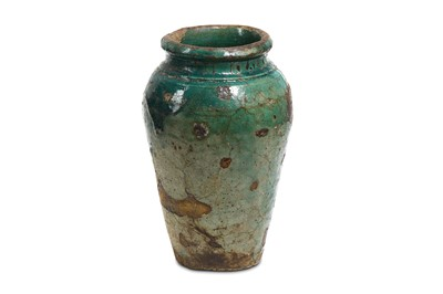 Lot 22 - AN EGYPTIAN GLAZED JAR Late Period, Circa 664 -...
