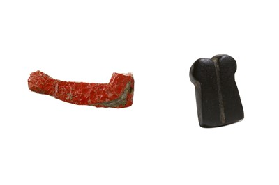 Lot 17 - TWO EGYPTIAN GLASS INLAY ELEMENTS Circa 1st...