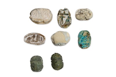Lot 28 - A GROUP OF EGYPTIAN SCARABS Circa 1st...