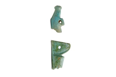 Lot 24 - TWO EGYPTIAN GLAZED COMPOSITION AMULETS Late...