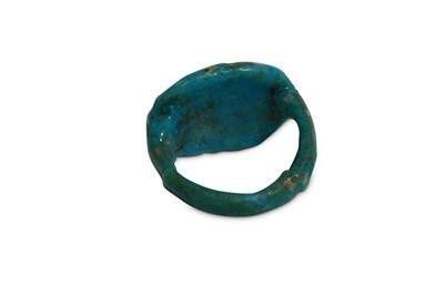 Lot 15 - AN EGYPTIAN GLAZED COMPOSITION RING Circa 1st...