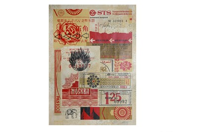 Lot 89-Shepard Fairey (American), 'Station to Station 3'