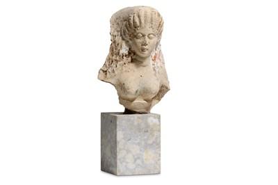 Lot 81 - A GREEK FEMALE TERRACOTTA ANTEFIX Circa 4th...