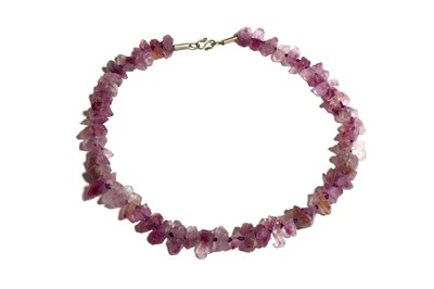 Lot 55 - AN AMETHYST NECKLACE Restrung with a modern...