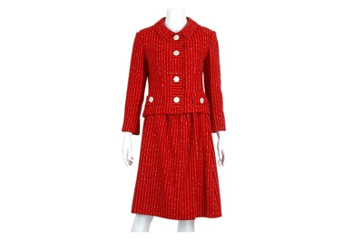 Lot 15 - Christian Dior New York Red Skirt Suit