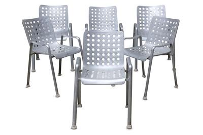 Lot 44-DR HANS CORAY: A set of six LANDI Chairs,...