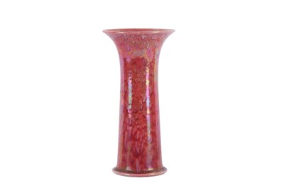 Lot 4-RUSKIN POTTERY- A trumpet vase, of tapering...