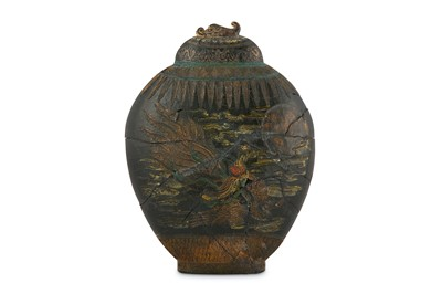 Lot 75-A CHINESE 'IMMORTALS JAR' INK CAKE BY WANG JINSHENG.