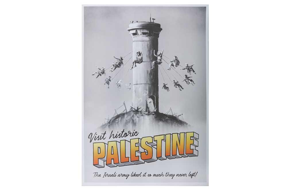 Lot 45-Banksy (British, b.1974), 'Visit Historic Palestine'