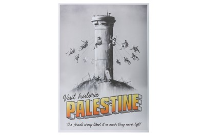 Lot 45-Banksy (British, b.1974), 'Visit Historic Palestine'