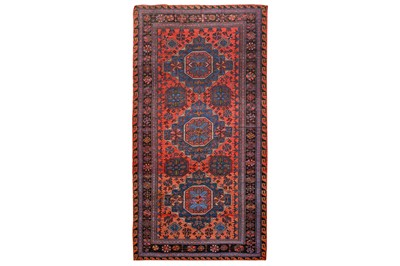 Lot 38-AN ANTIQUE SOUMAC CARPET, SOUTH CAUCASUS approx:...