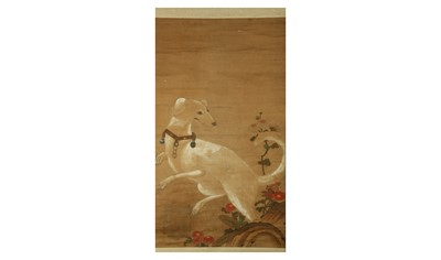 Lot 28-A HANGING SCROLL. 17th/18th Century. Painted...